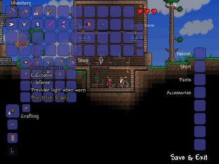 terraria screenshot - Castlevania meets MineCraft