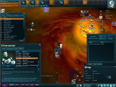 Star Sonata 2 screenshot - UI-shot