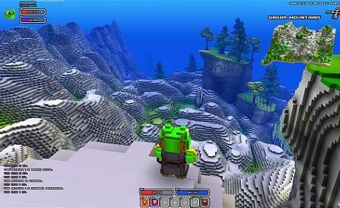 Cube World - mountain view