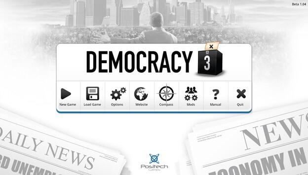 Democracy 3 game screenshot UI