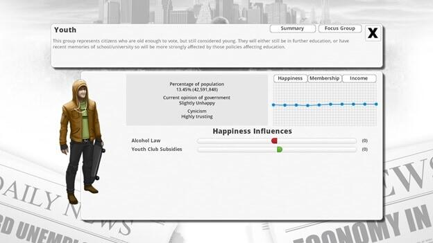 Democracy 3 game screenshot 6
