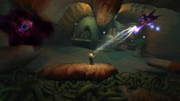 Glare game screenshot - shooting enemies