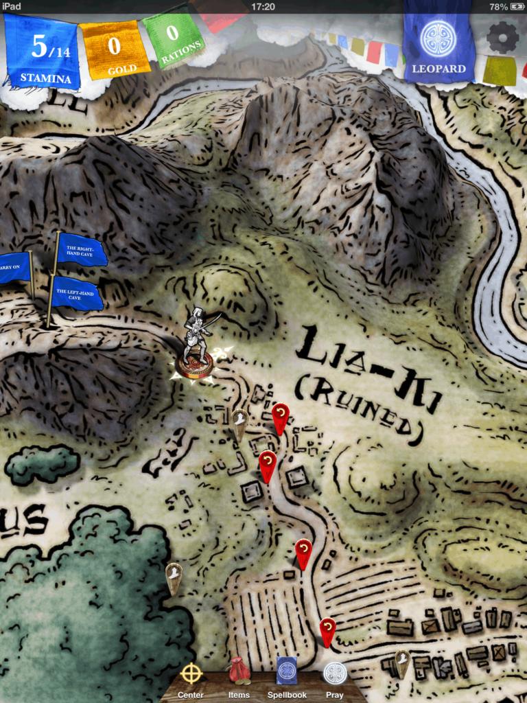 Steve Jackson Sorcery - cartography