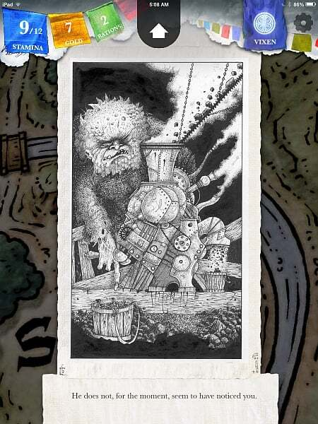 Steve Jacksons Sorcery original artwork