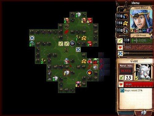 Desktop Dungeons forest level screenshot