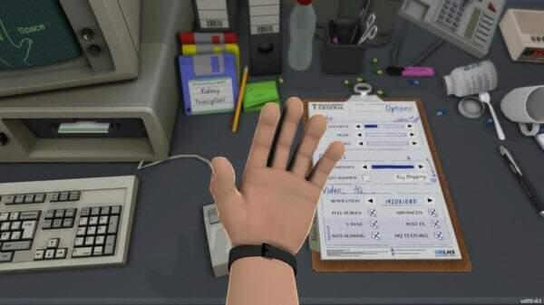 Surgeon Simulator 2013 - talk to the hand screenshot