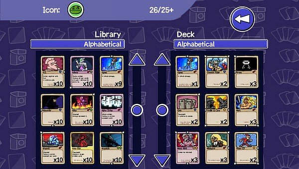 Card City Nights screenshot - sorting decks