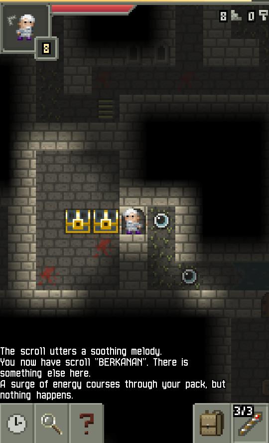 Pixel Dungeon screenshot  - scrolls