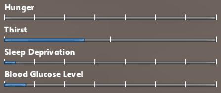 survivalist game screenshot - BloodGlucoseLevel