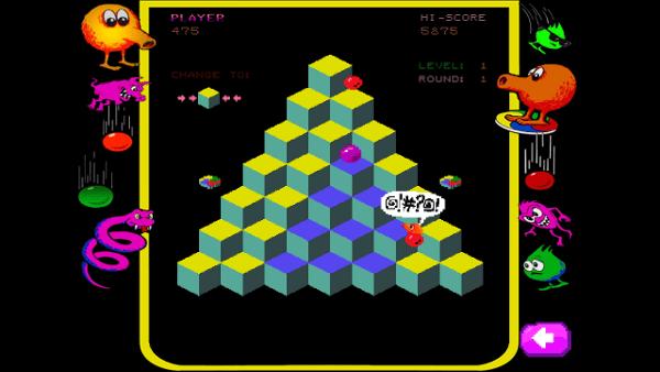 Qbert screenshot - classic