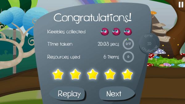 Keebles screenshot - rating