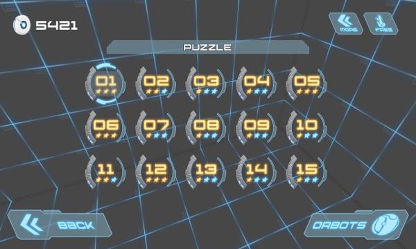 Orborun screenshot - levels