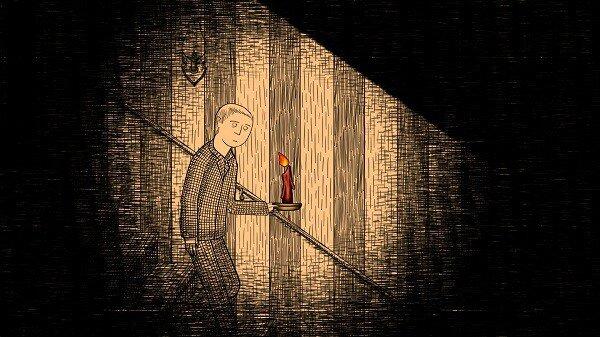 Neverending Nightmares, descending a staircase