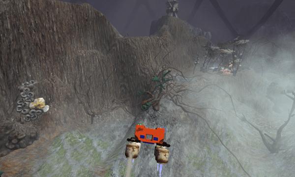 Crashed Lander screenshot - Fog