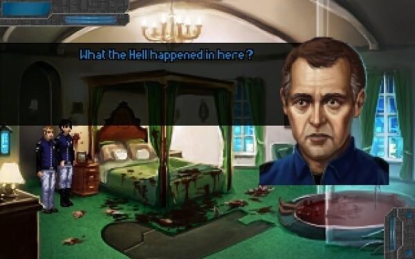 Technobabylon: a gruesome murder scene