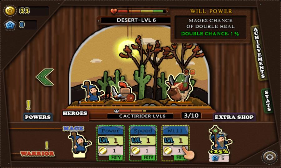 Tap Heroes screenshot - Desert