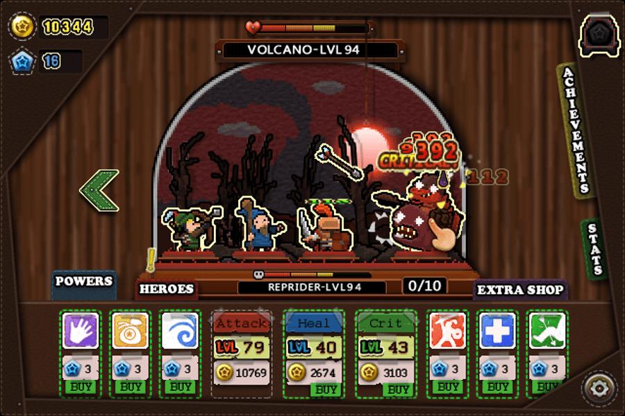 Tap Heroes screenshot - Hell