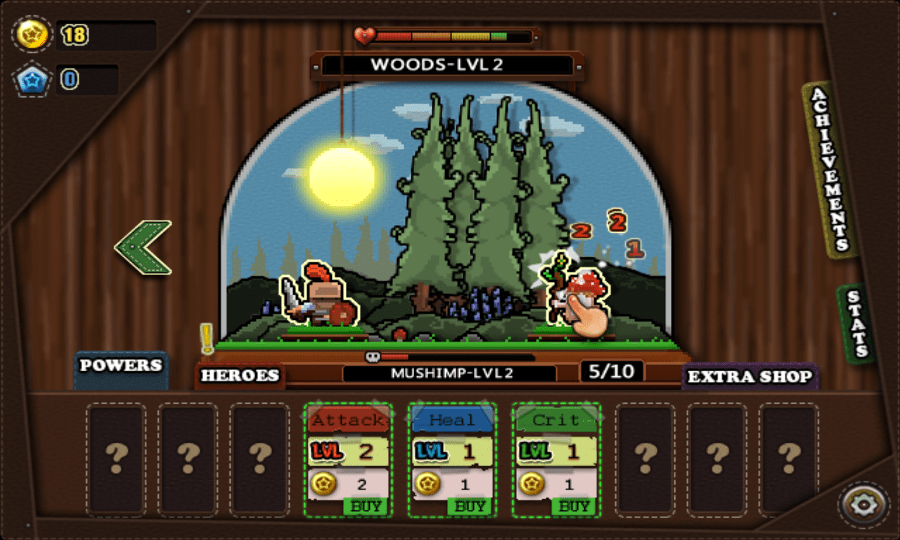 Tap Heroes screenshot - Level 2