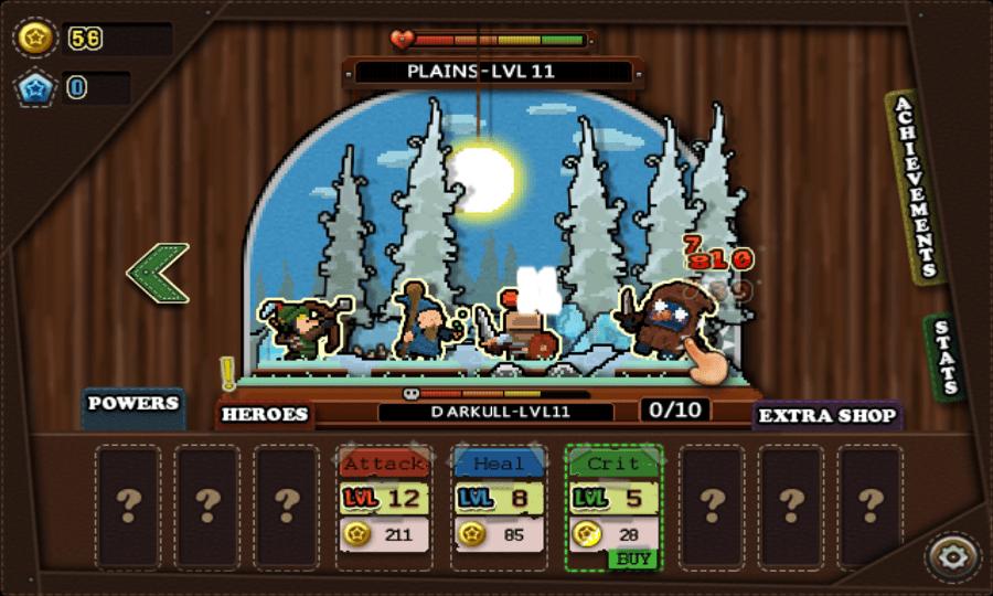 Tap Heroes screenshot - Snow