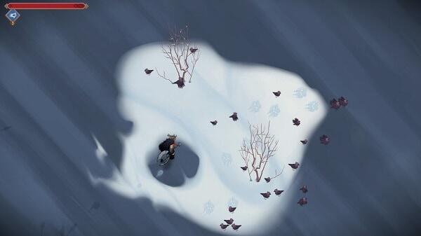 Jotun, frozen lake scene