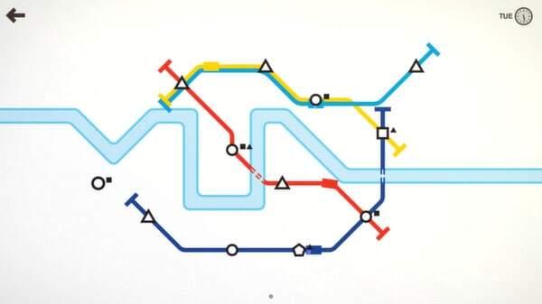 Mini Metro: screenshot courtesy of Steam