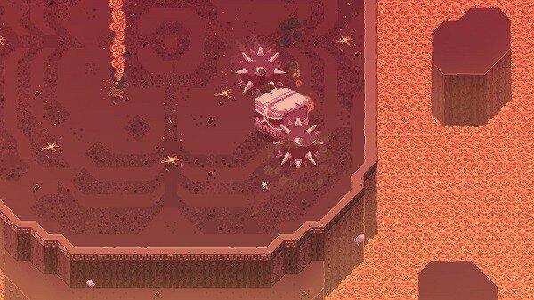 Titan Souls, a spiky skull boss