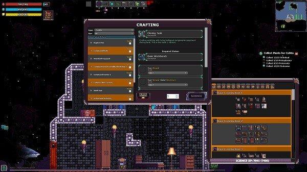 Edge of Space, crafting menu