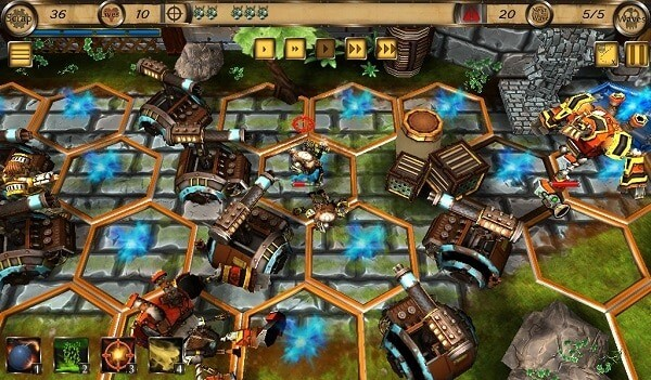 Hydraulic Empire: a maze of gun towers