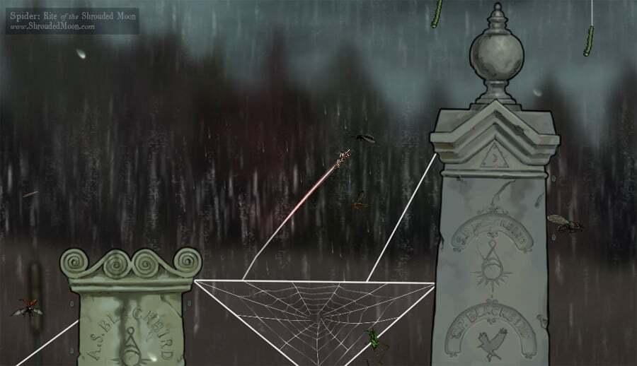 Spider ROTSM screenshot Graveyard-RainyDay