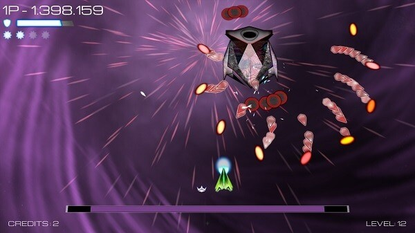 Vortex Attack, bullet hell elements