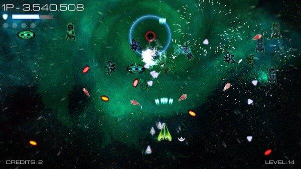 Vortex Attack screenshot, space shooting
