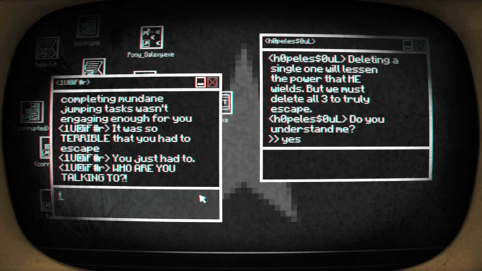 Pony Island screenshot captor