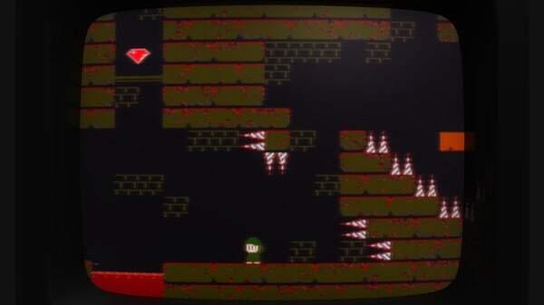 Super Win the Game, game screenshot, retro CRT monitor