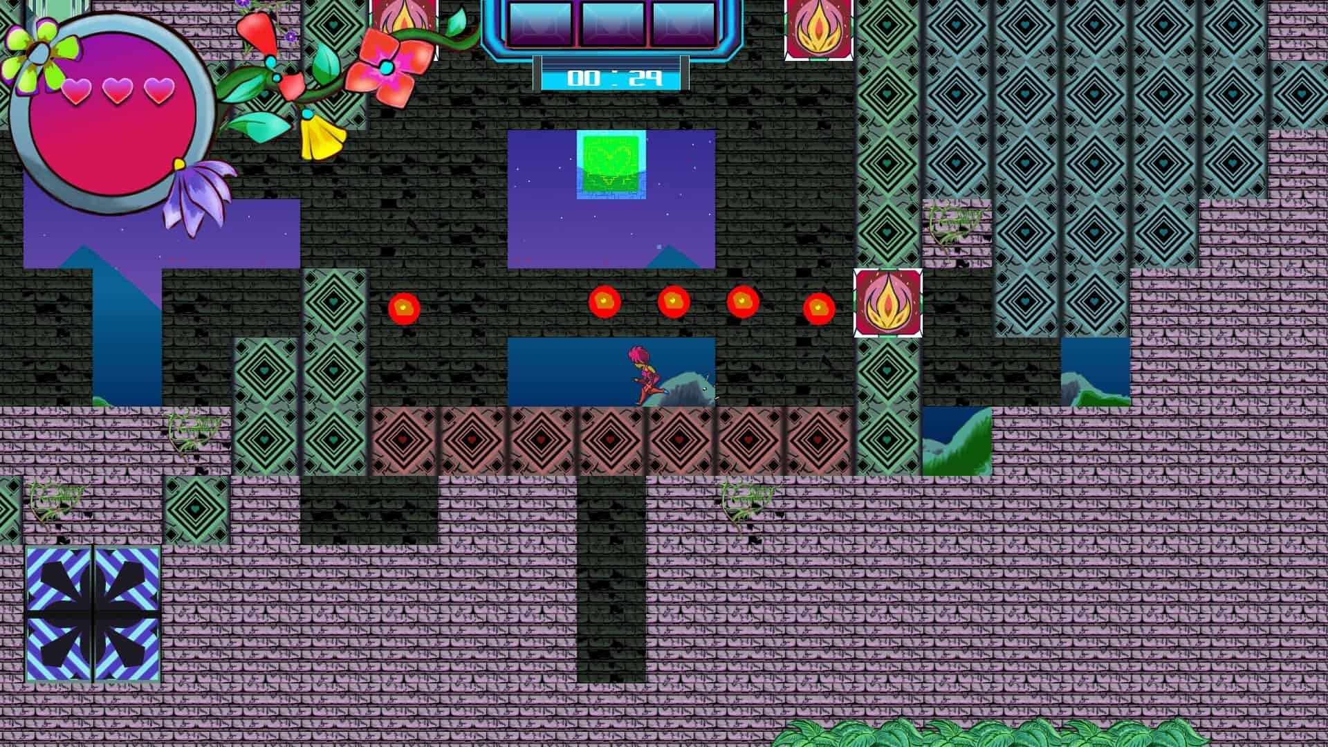 PulseCharge game screenshot, flamethrowers