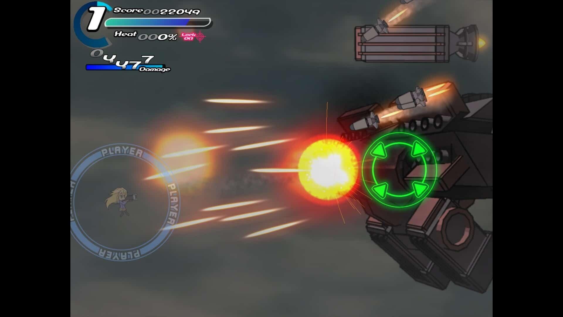 Sora game screenshot, energy weapons