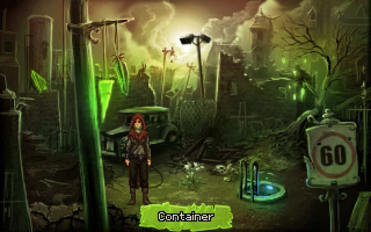 Shardlight game screenshot, junkyard