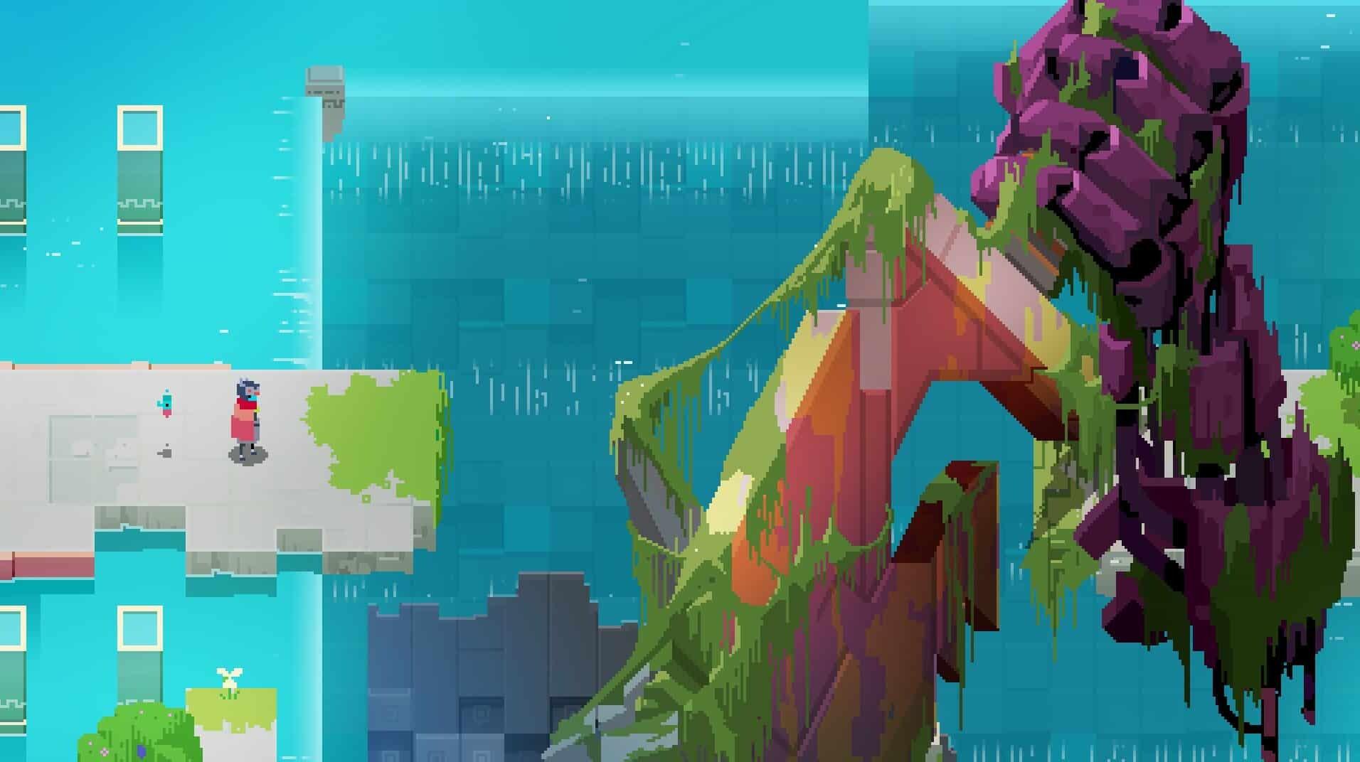 Hyper Light Drifter game screenshot, giant arm