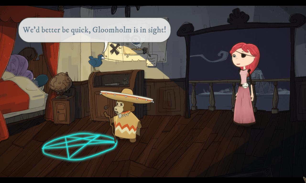 Nelly Cootalot: The Fowl Fleet game screenshot, voodoo