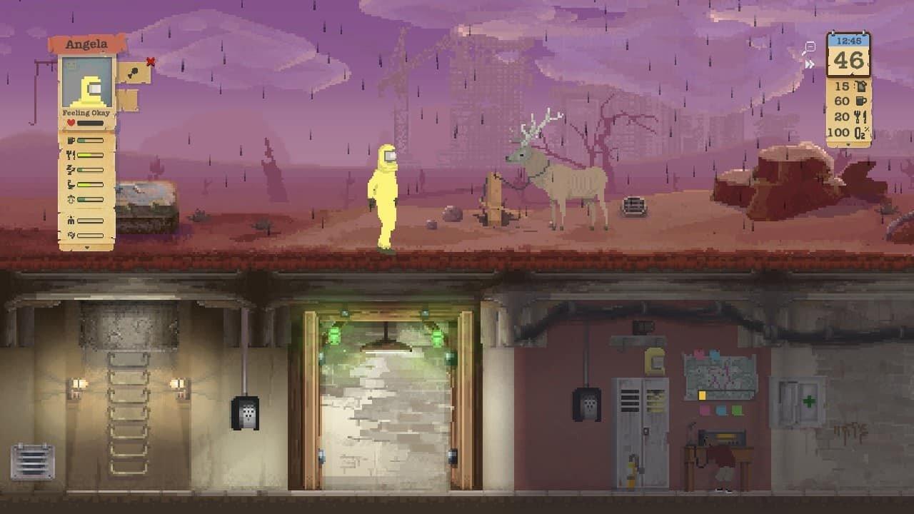 Sheltered game screenshot, black rain