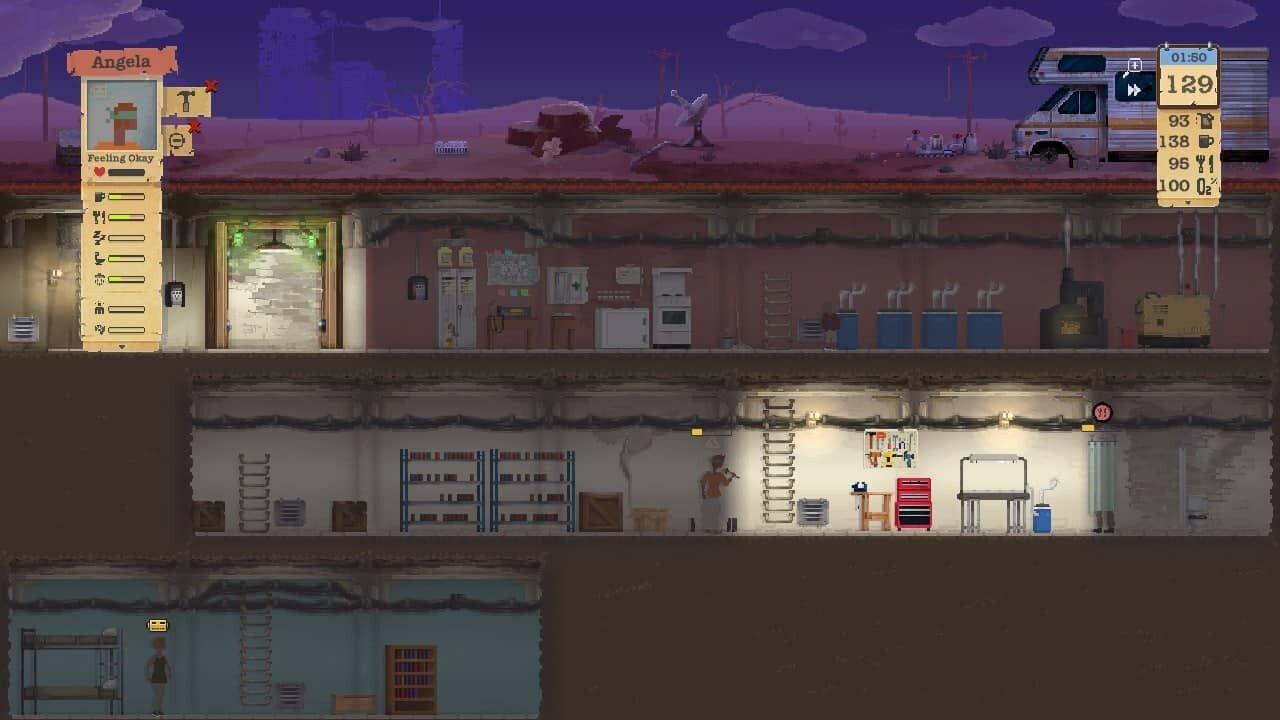 Sheltered game screenshot, painted shelter