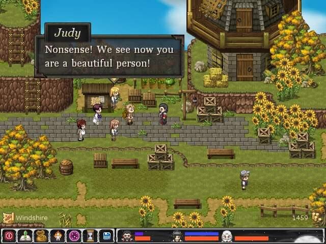 Aveyond game screenshot, hero