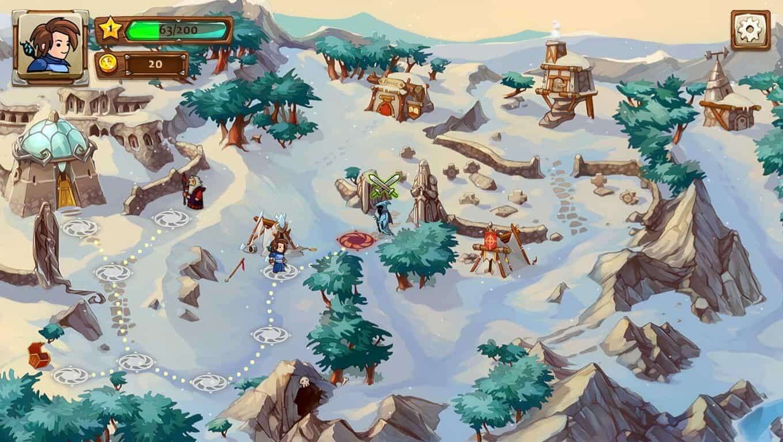 Braveland game screenshot, snow