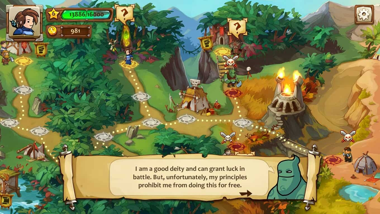 Braveland Wizard game screenshot, feature