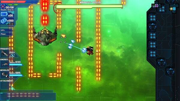 Starward Rogue game screenshot, upgraded gun (courtesy Steam)