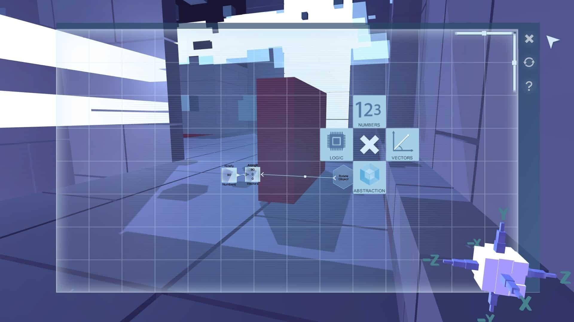 Glitchspace game screenshot, programming