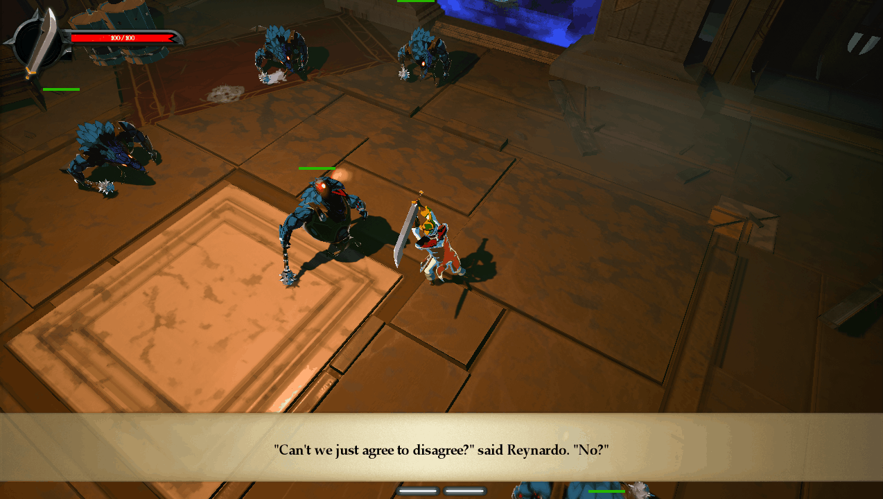 Stories game screenshot, combat