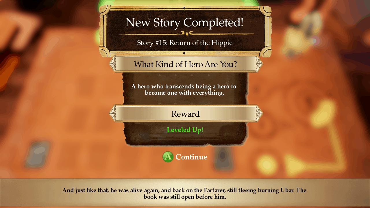 Stories game screenshot, ending