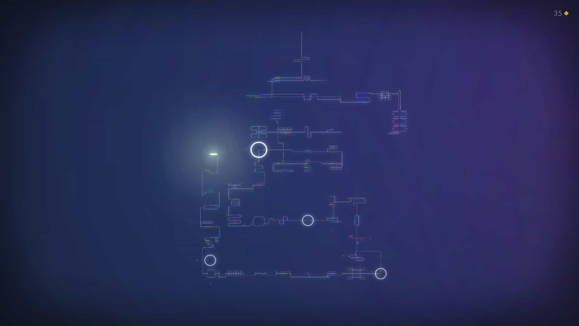 Linelight game screenshot, level selection
