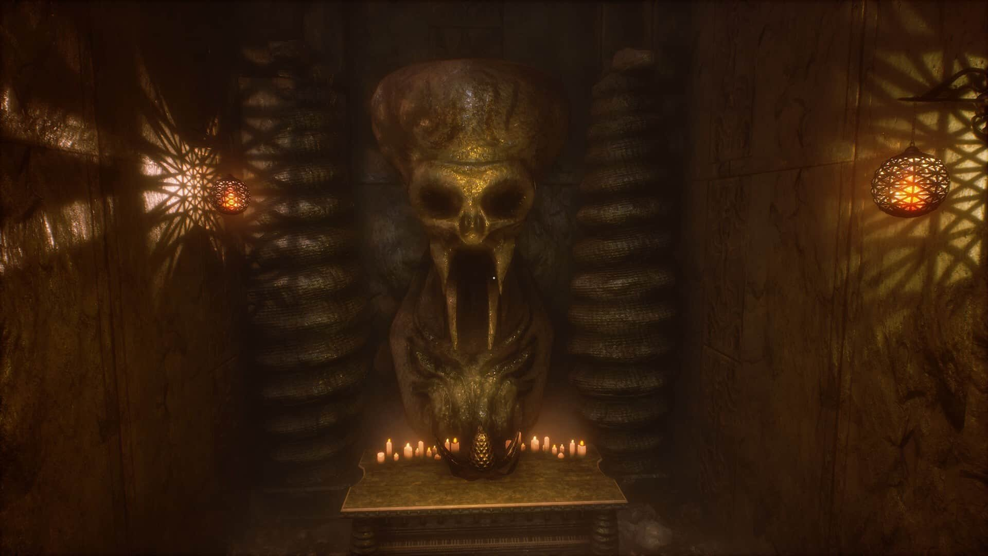 Conarium game screenshot, altar