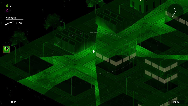 Walking Heavy game screenshot, night vision